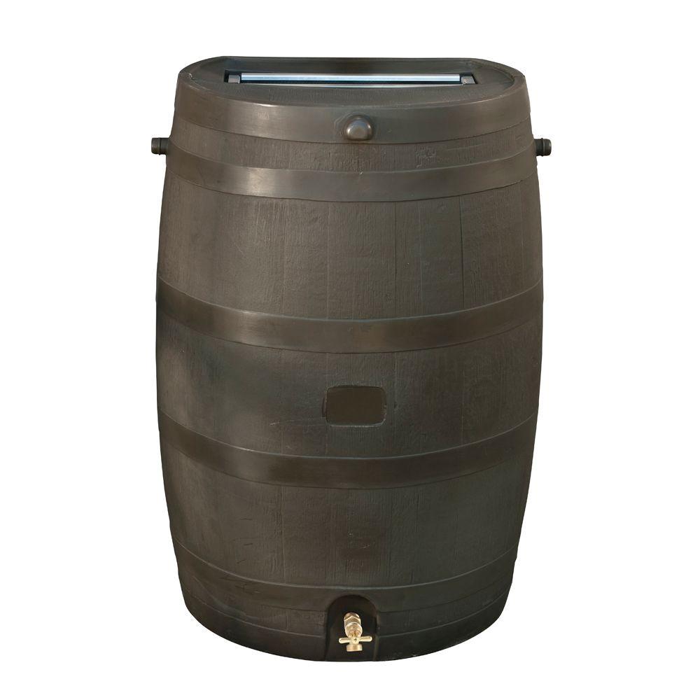 rain barrel with brass spigot