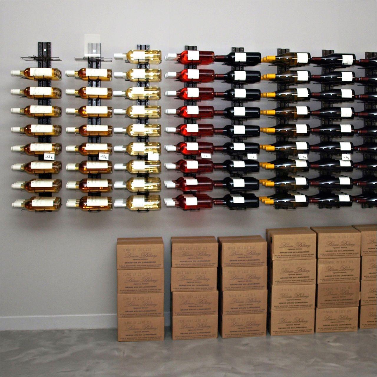 wall wine rack visioracka made of metal for horizontal storage
