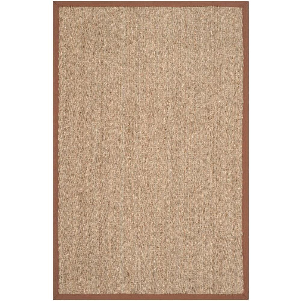 natural fiber beige brown 3 ft x 5 ft area rug