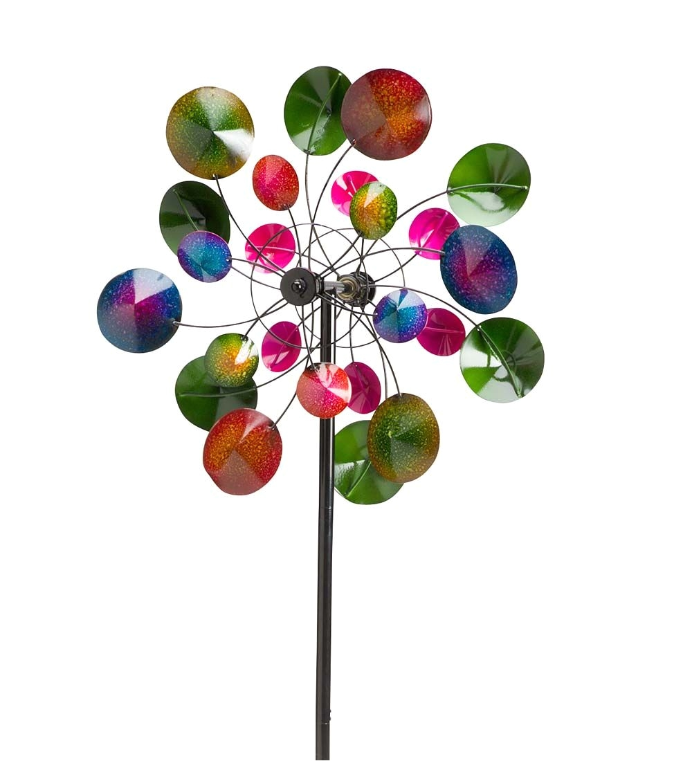 Spinning Garden Art Over 6 Feet Tall This Wind Spinner is Inspired by A Kaleidoscope