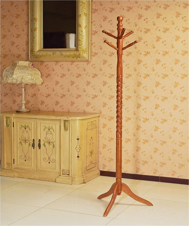 Stand Up Coat Rack Amazon Com Frenchi Furniture Wood Coat Hat Rack Stand In Oak Finish