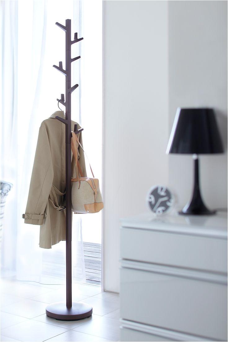 branch clothes hanger brown tower yamazaki