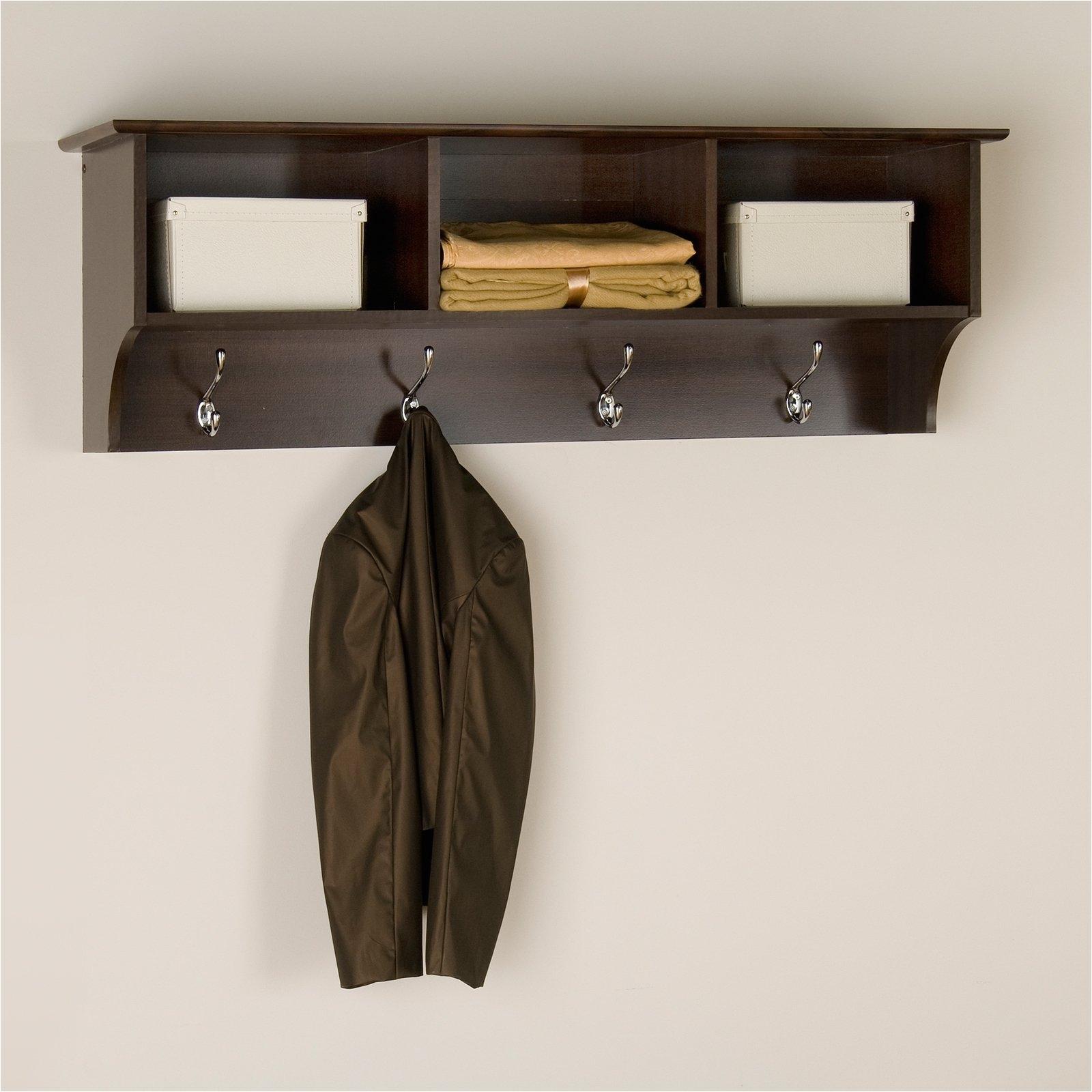 image of master entryway shelf with hooks
