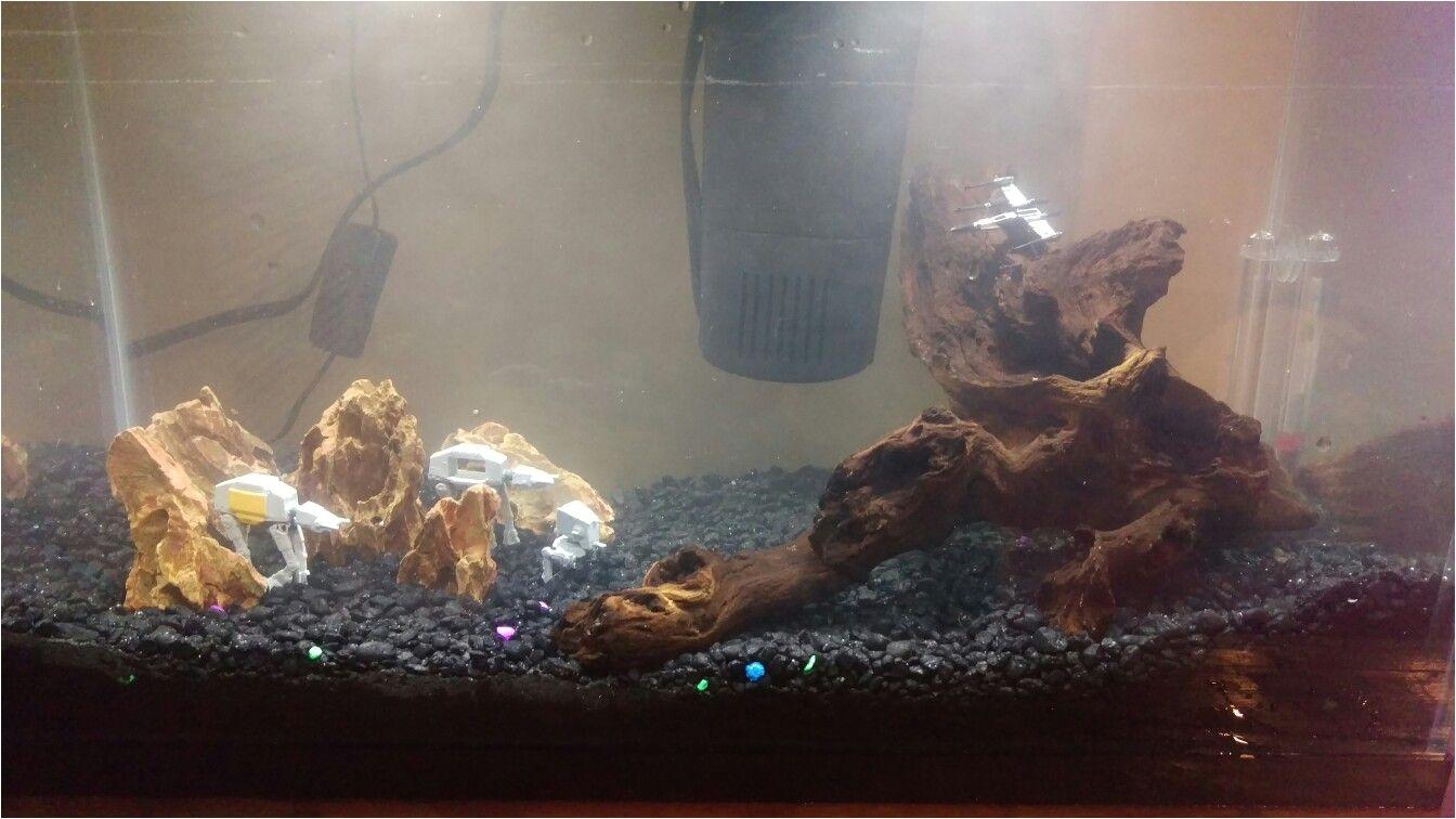 Star Wars Themed Fish Tank Decorations Star Wars At At 10