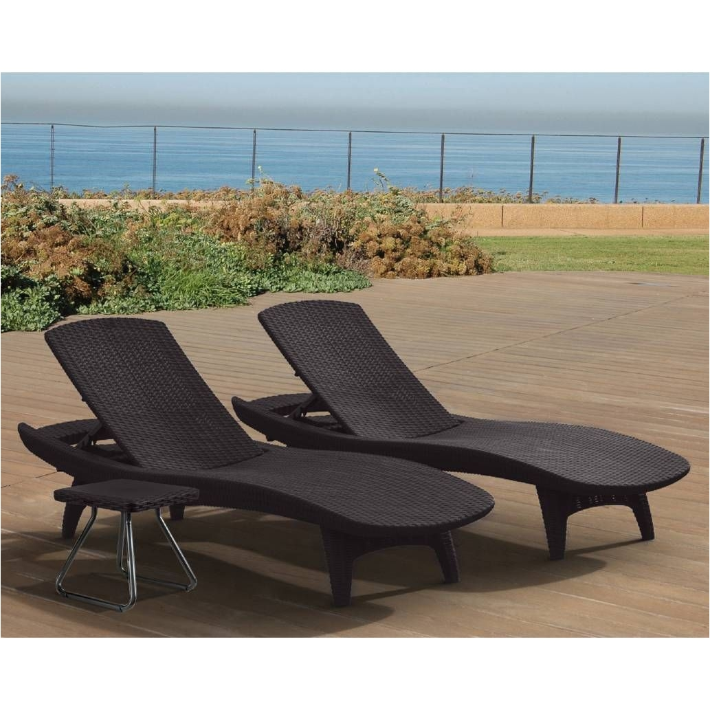 Sun Tanning Lounge Chairs Product Image for Ketera Pacific Sun 3 Piece Lounger Set 2 Out Of 5