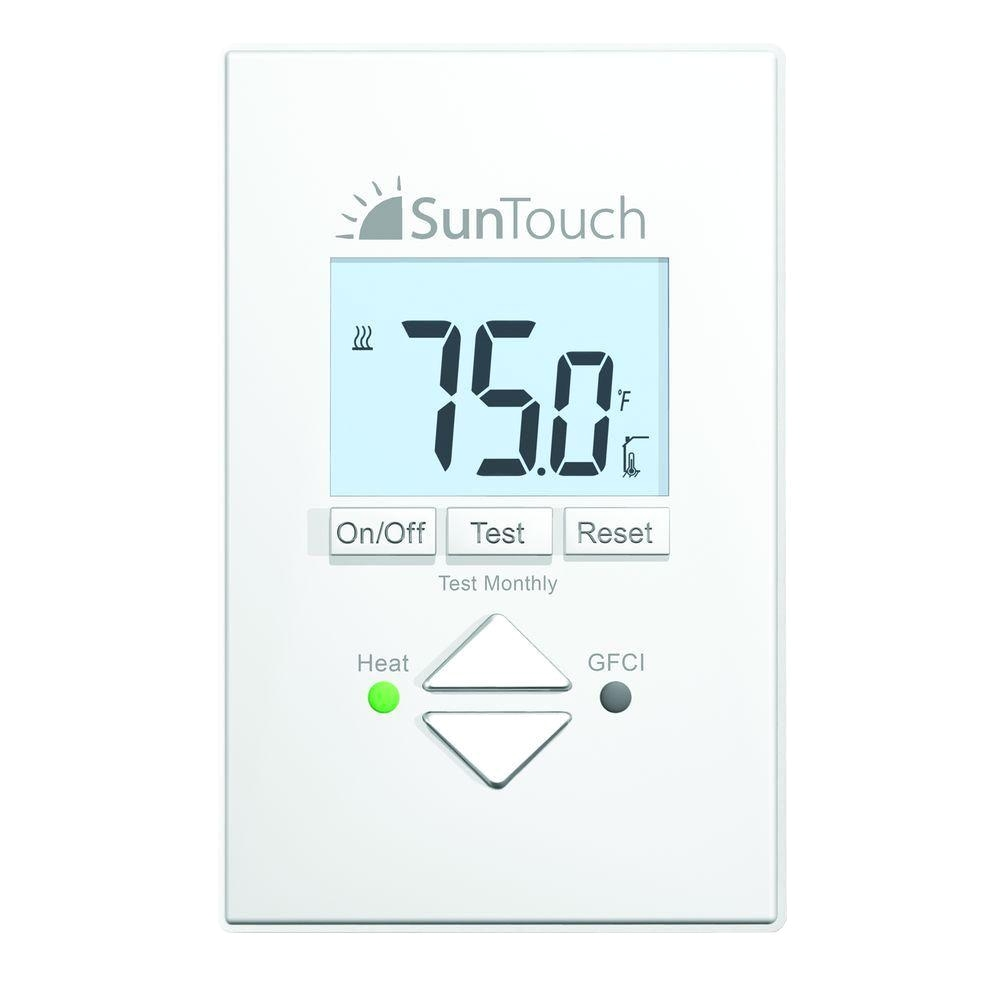 Sun touch Heated Floor Suntouch Floor Warming Sunstat Core Non Programmable Floor Heating
