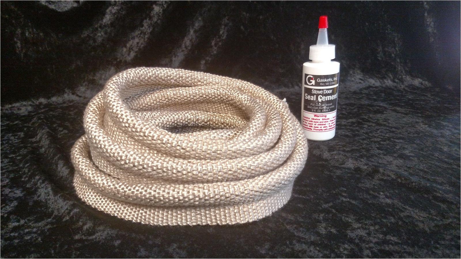 quadrafire castile mt vernon stove door ash pan gasket tadpole rope seal