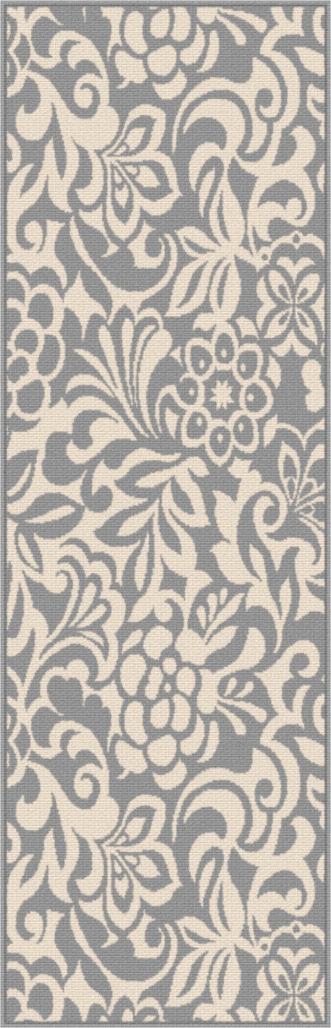 tayse rugs garden city tahari floral runner x gray