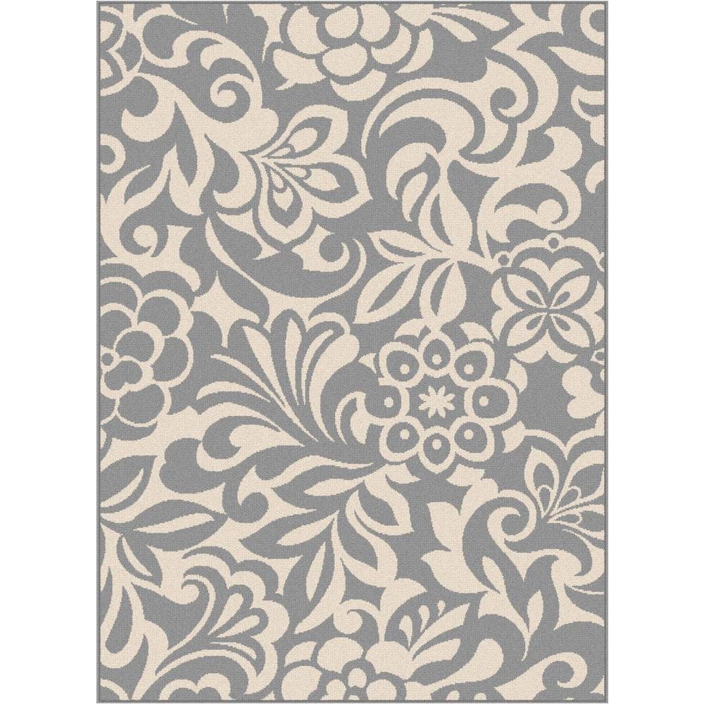 tahari gray 7 ft 10 in x 10 ft 3 in indoor outdoor area rug