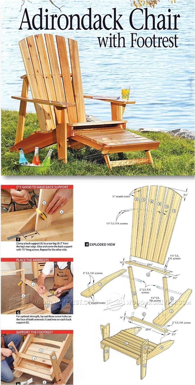 Enjoyable Tall Adirondack Beach Chair Plans Adirondack Chair Plans Ncnpc Chair Design For Home Ncnpcorg