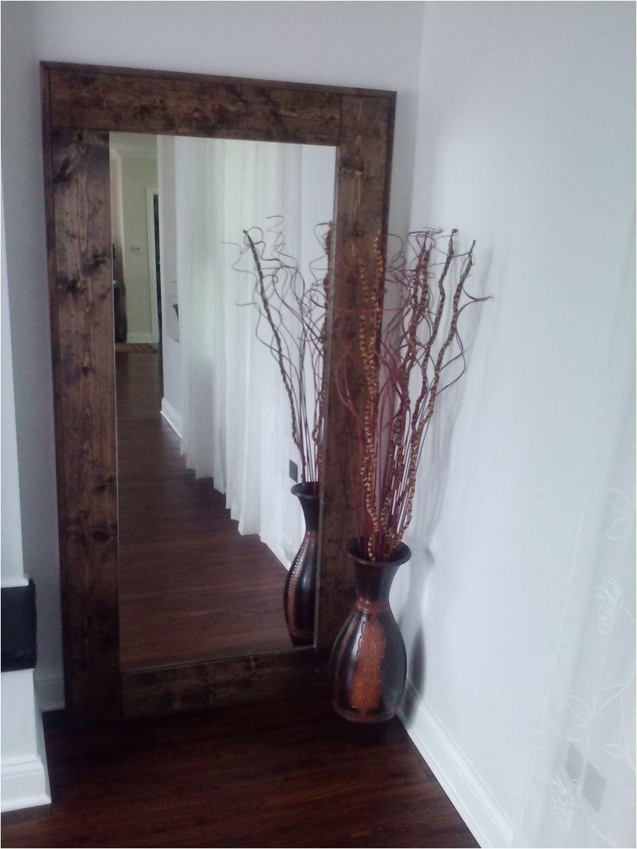 custom made large floor mirror reclaimed wood mirror standing mirror rustic floor mirror