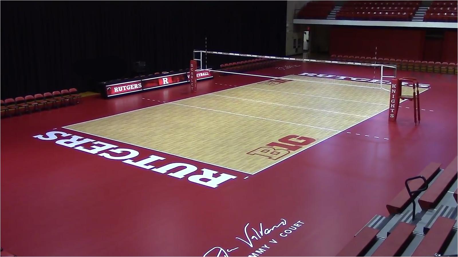 Taraflex Flooring Volleyball Volleyball Unveils Taraflex Playing Surface Rutgers University