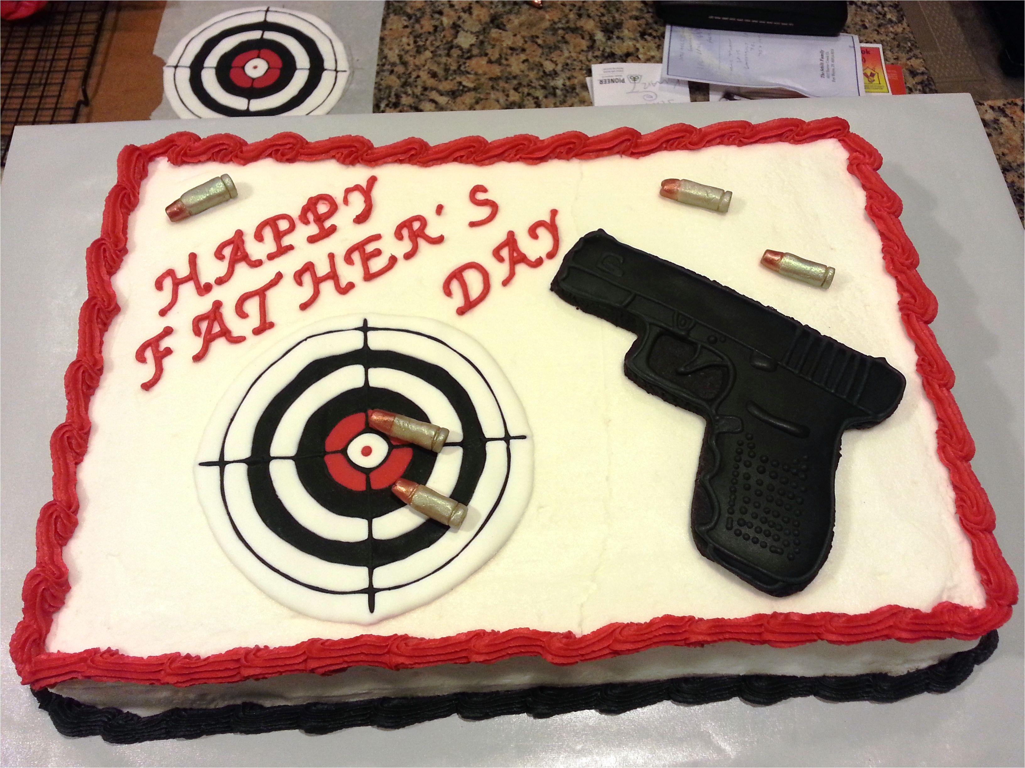 Target Birthday Cake Decorations Gun Cake Gun Is A Sugar Cookie