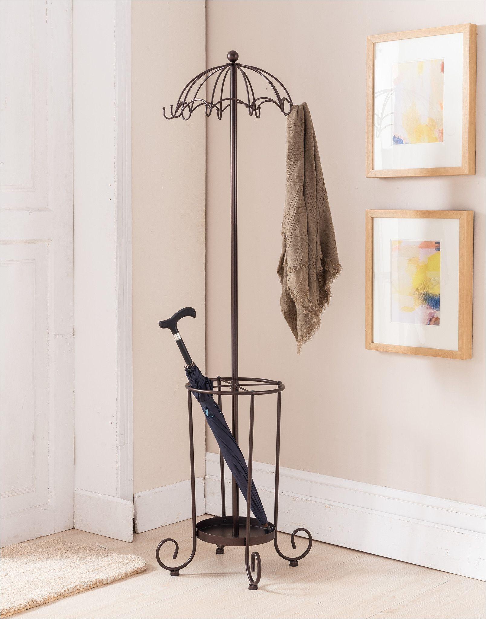 Target Hat Rack Stand Metal Bronze Traditional Umbrella Style 10 Hook Hat Coat Rack