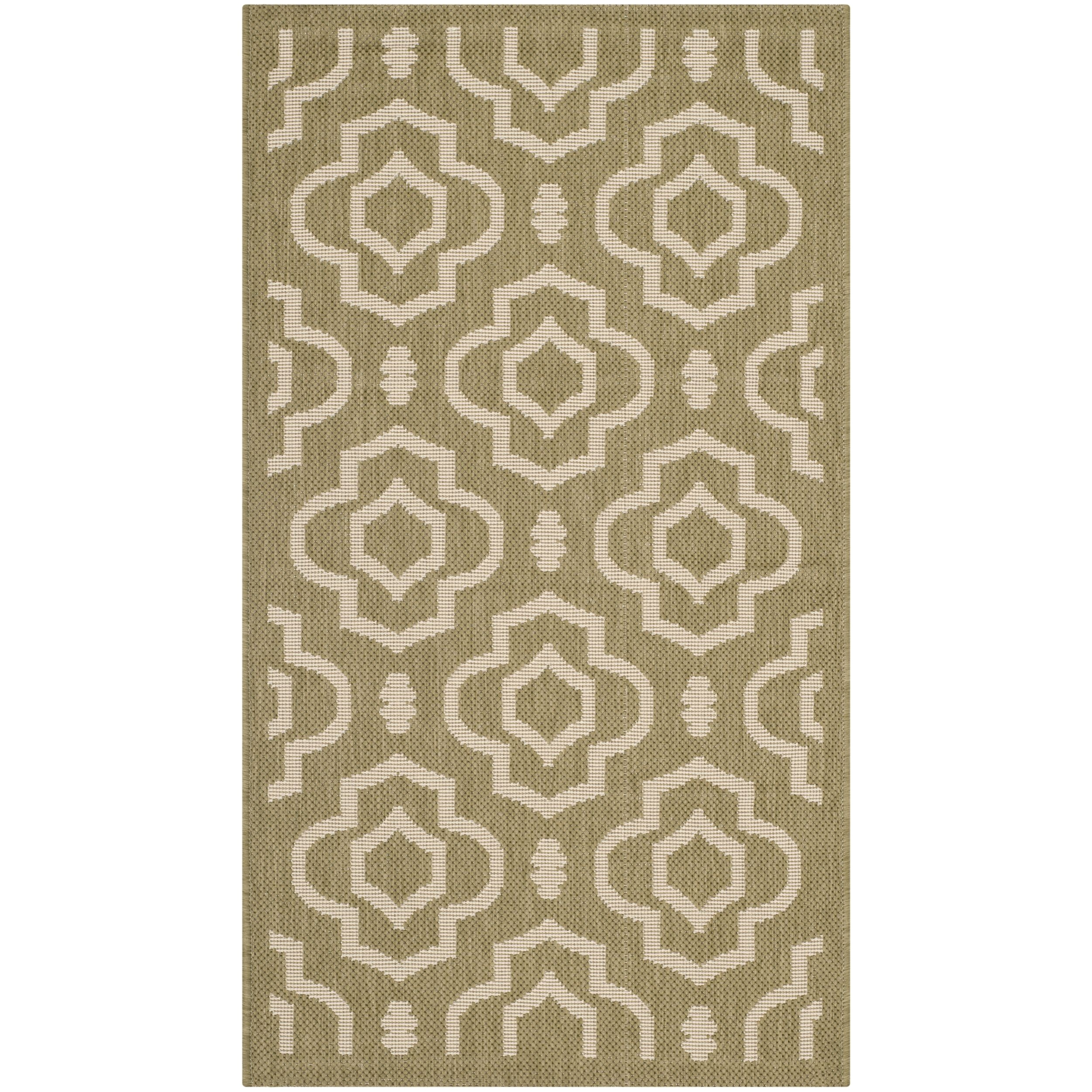 safavieh latex free indoor outdoor courtyard beige rug