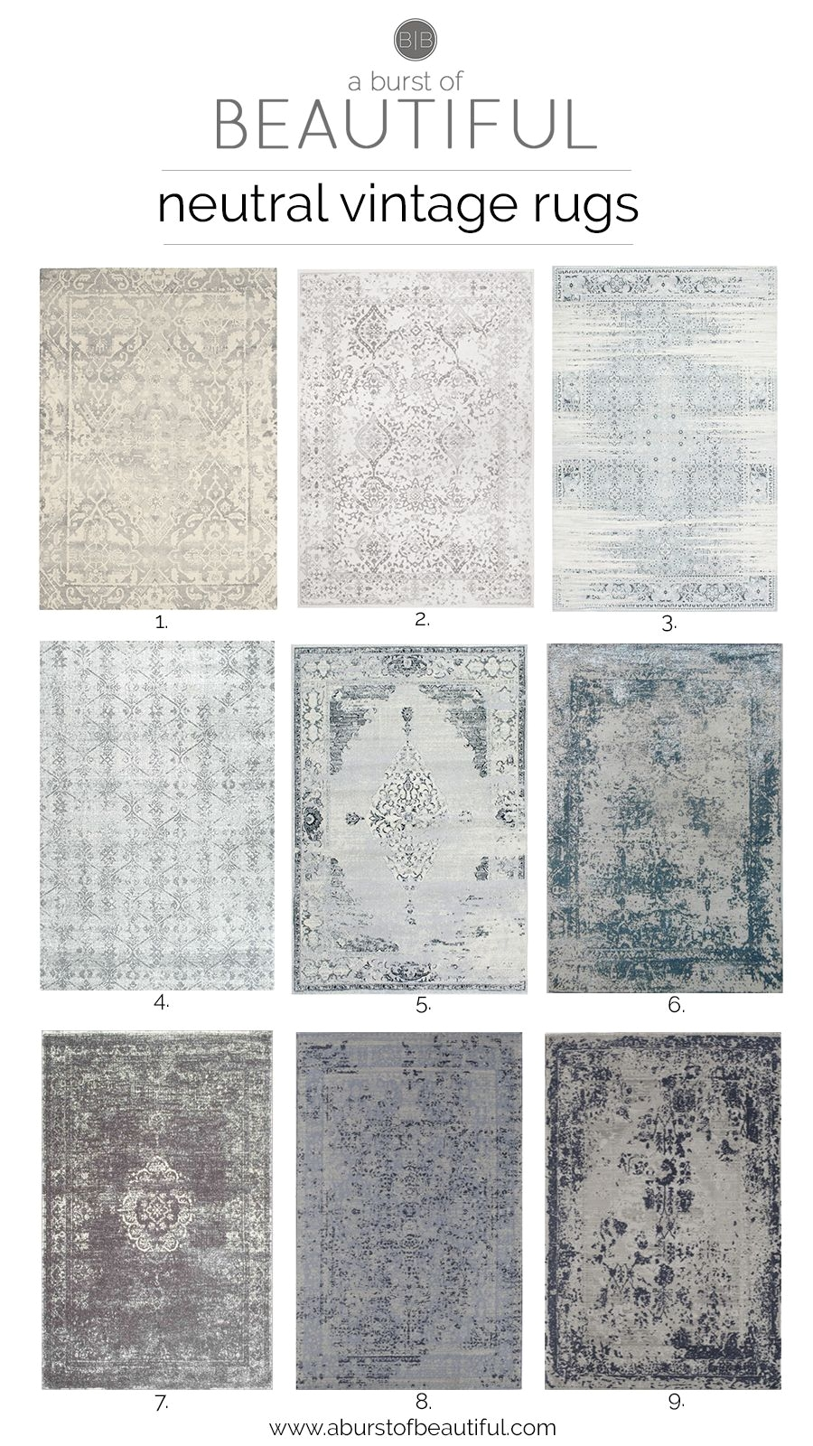 neutral vintage area rugs are an easy way to add color texture and pattern to any space in your home