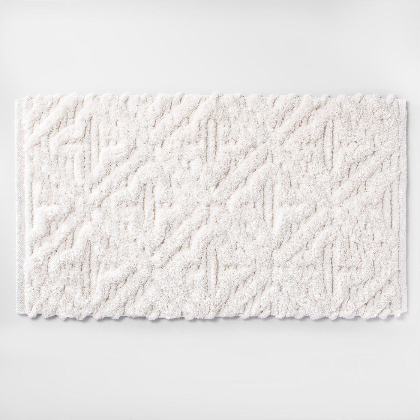 opalhouse textured diamond shag bath rug white target home home decor interior design