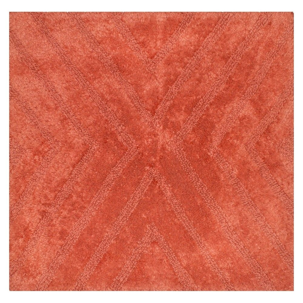 square bath rug wave light red nate berkus