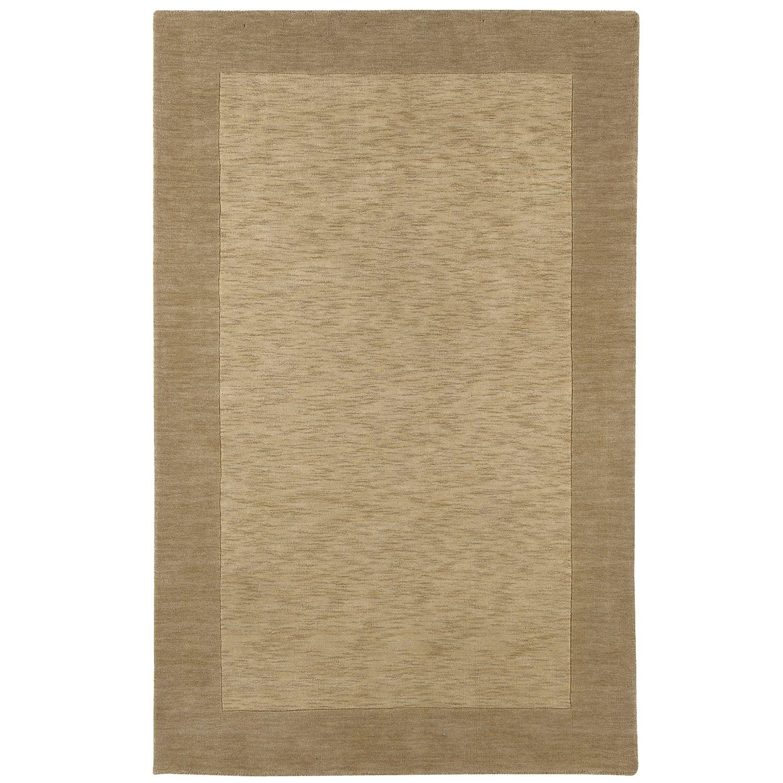heather border khaki 4x6 rug tan