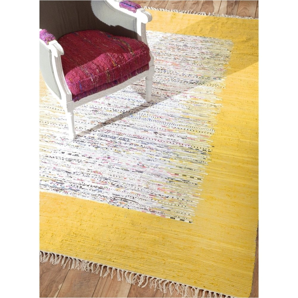 nuloom handmade mona kilim flatweave gold cotton rug 4 x 6