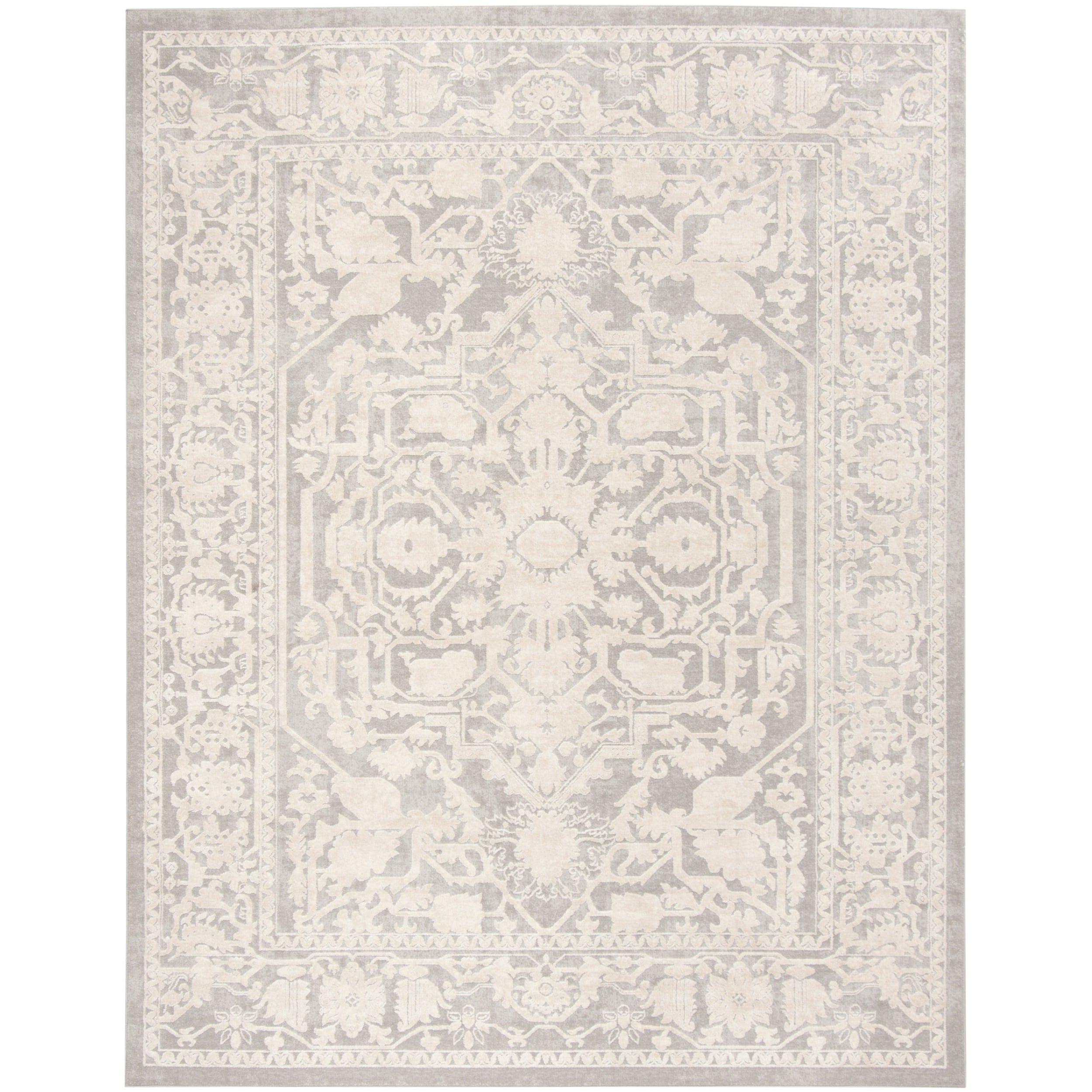 safavieh reflection light grey cream ivory polyester rug 6 x 9 rft665c 6