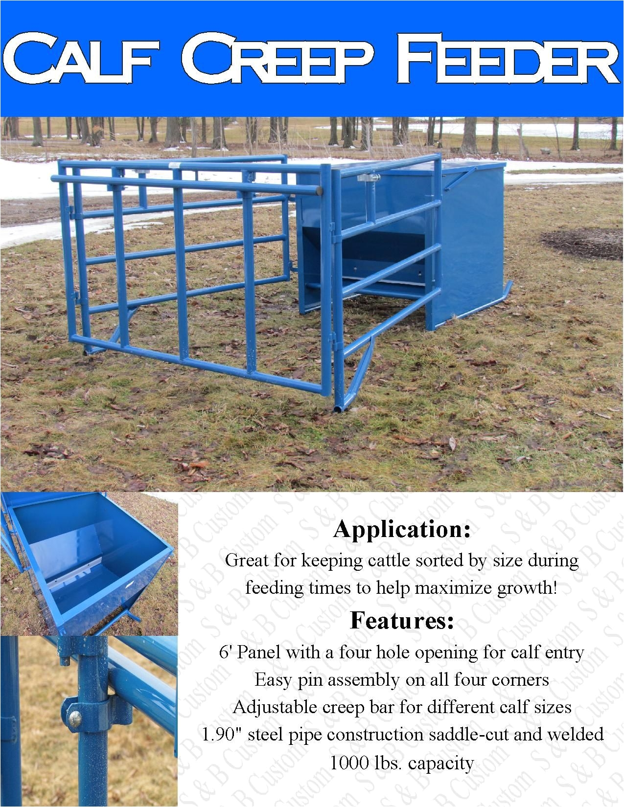 calf creep feeder box