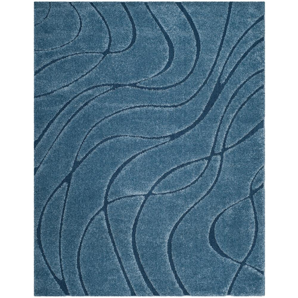 florida shag light blue blue 8 ft x 10 ft area rug