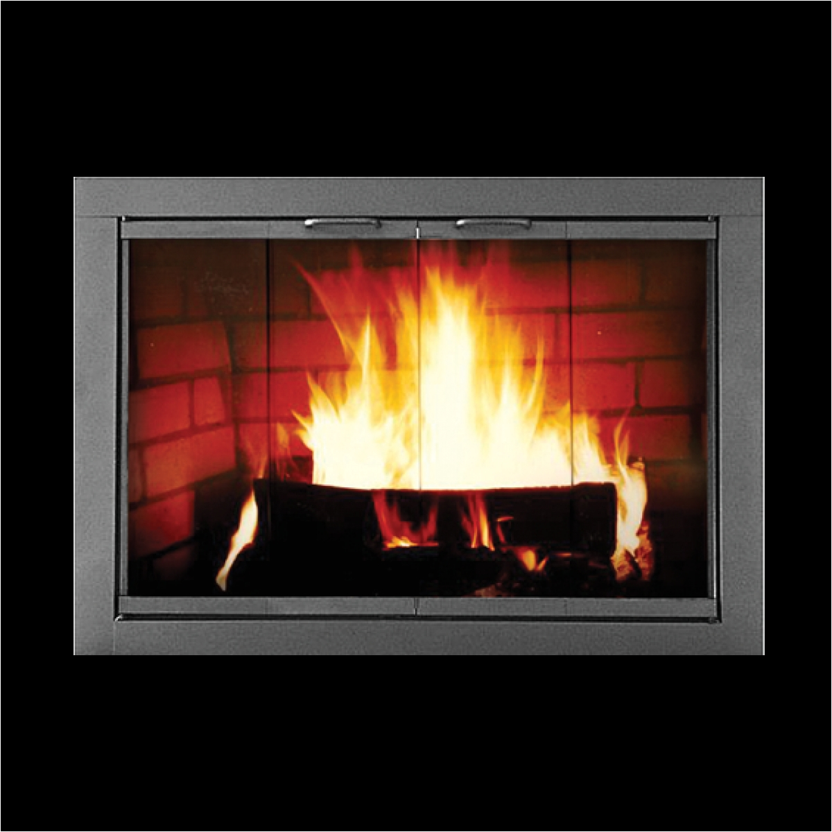 the madison masonry fireplace door