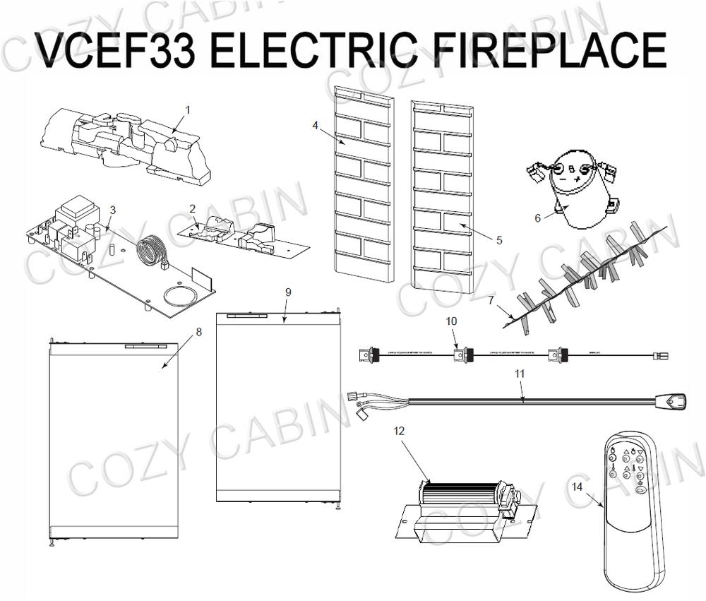 Temtex Fireplace Tfc36-2 Electric Fireplace Vcef33 Vcef33 the Cozy Cabin Stove