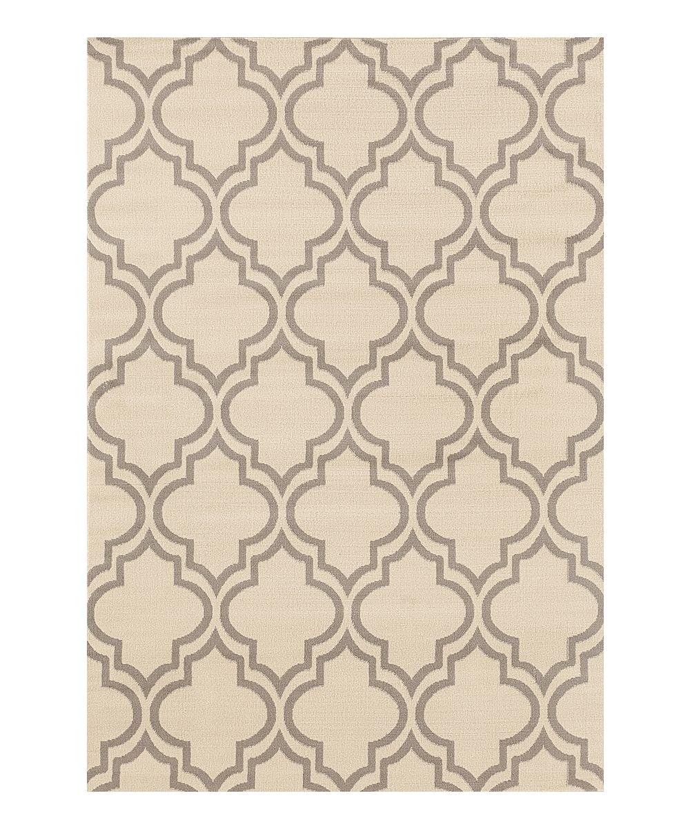 Thin area Rugs Cream Gray Thin Moroccan Trellis Rug Products Pinterest