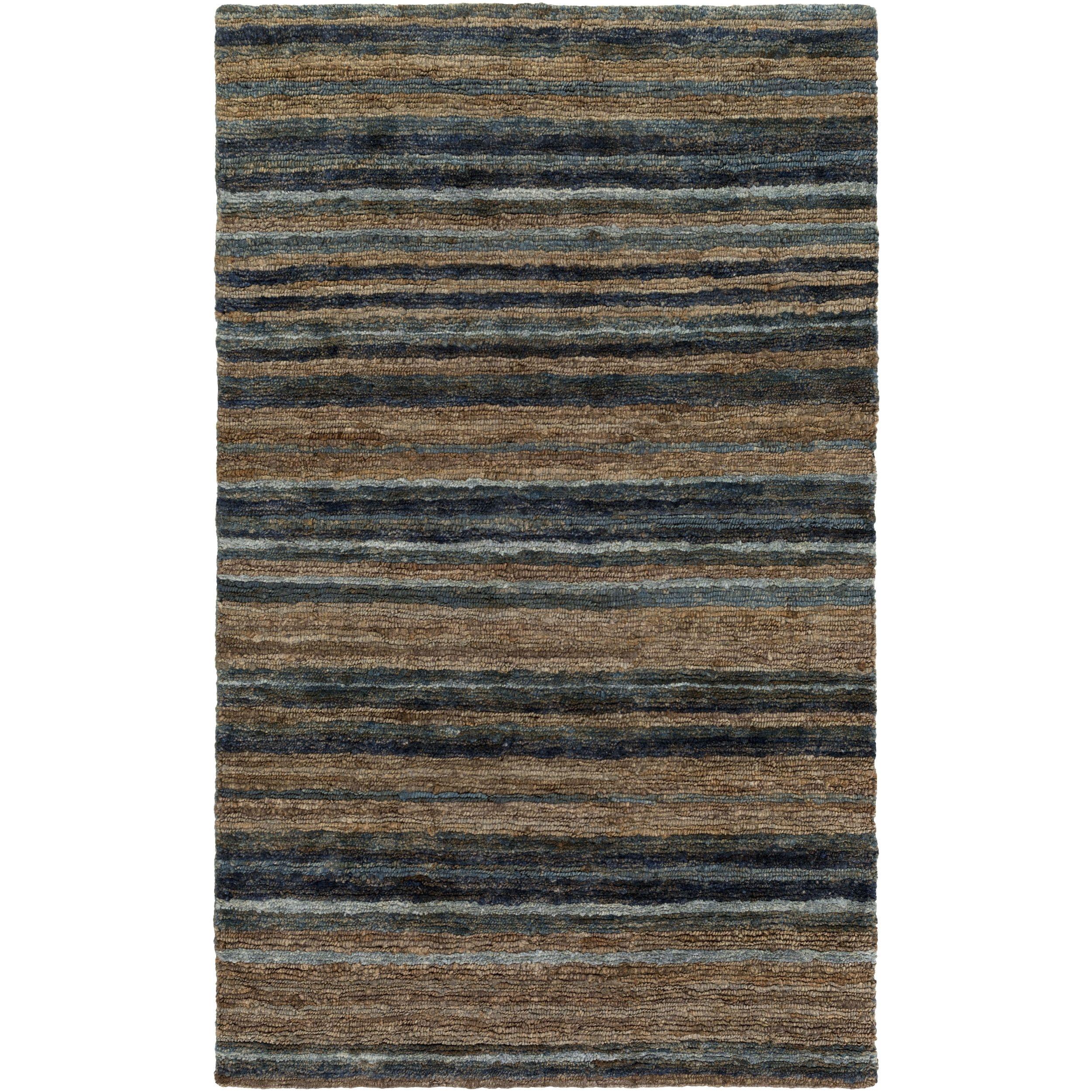 hand woven jeff stripe hemp textured rug 3 3 x 5 3 olive 3 3 x 5 3 green