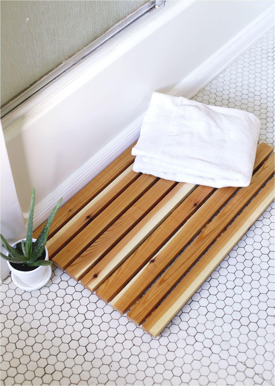 diy cedar bath mat so much better than a soggy fabric one