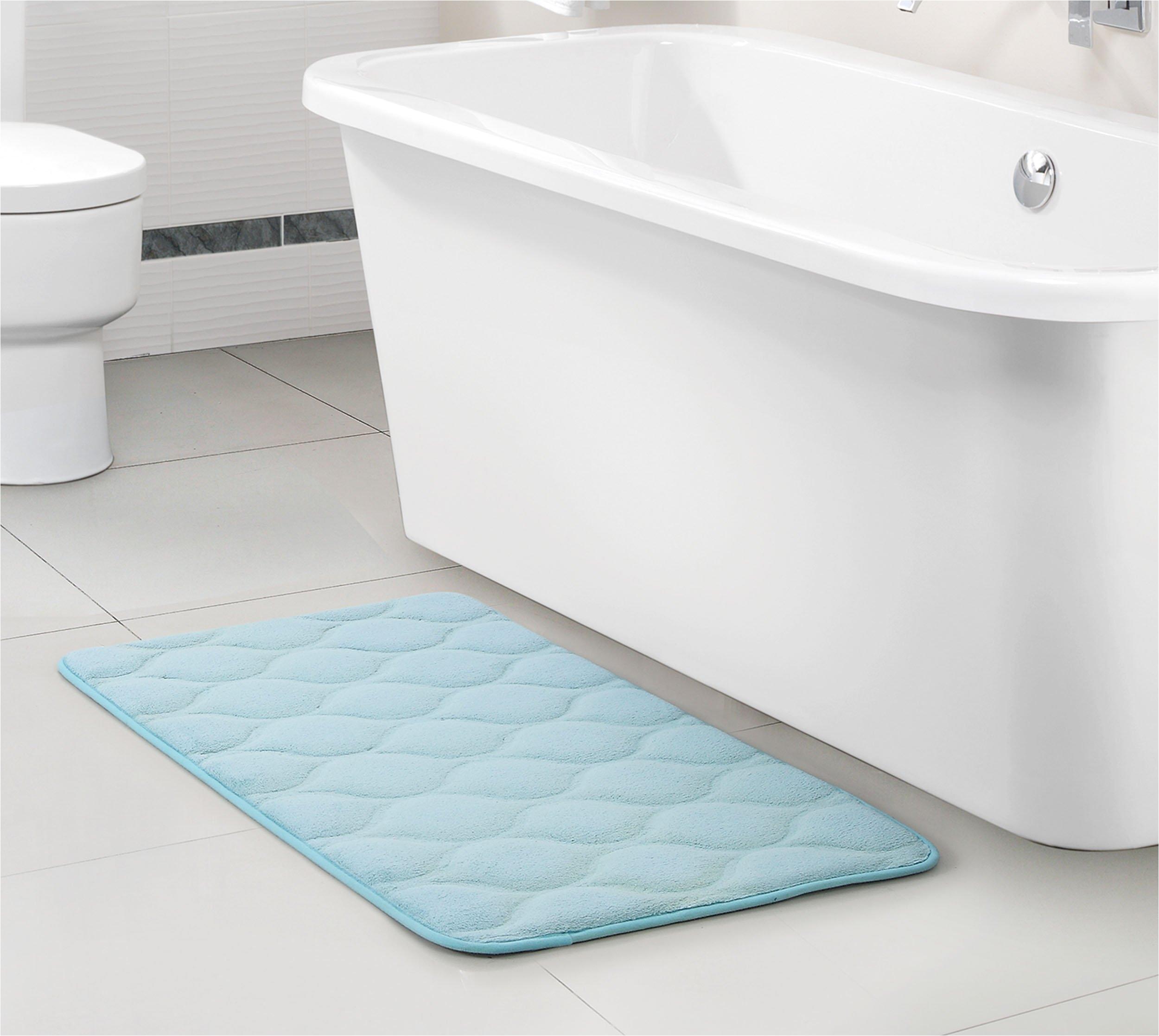 vcny home ogee memory foam 3 piece bath rug set