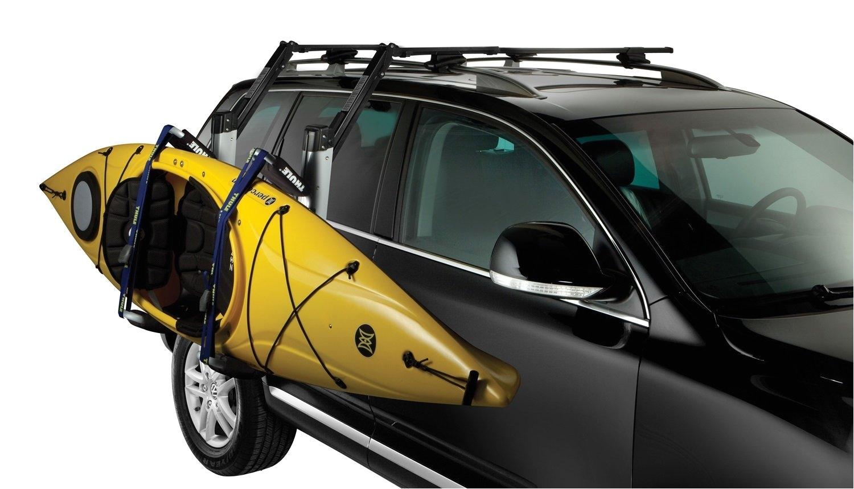 amazon com thule 897xt hullavator kayak roof rack mount carrier sports outdoors