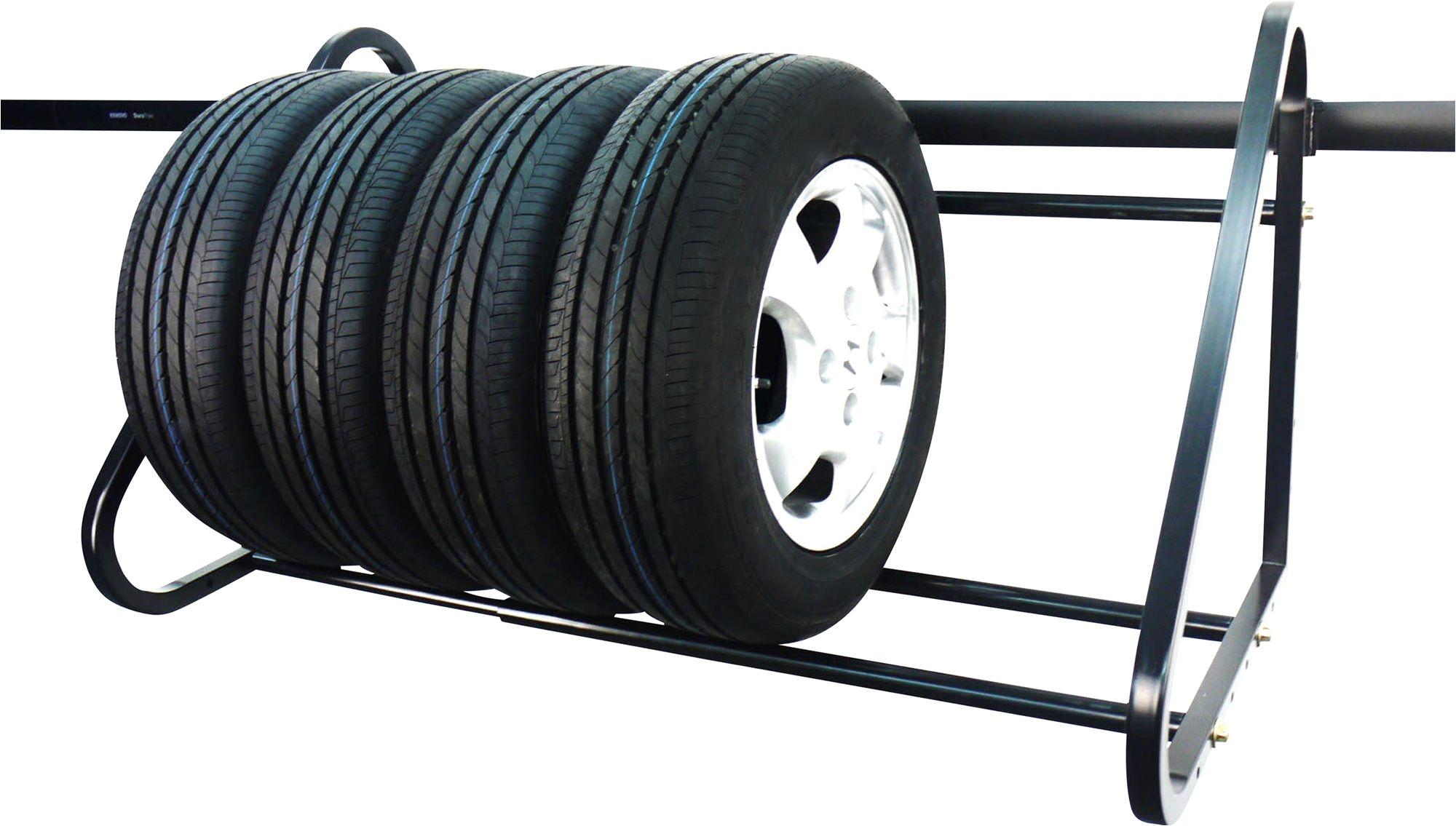 440 lb adjustable wall mount tire rack