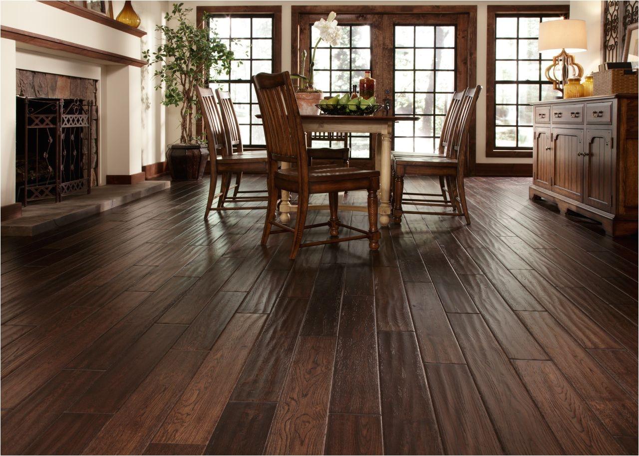 scraped wood floors
