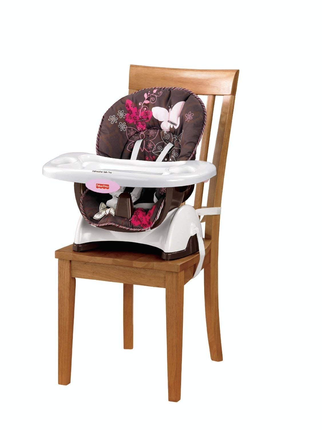 amazon com fisher price space saver high chair mocha butterfly discontinued by manufacturer childrens highchairs baby