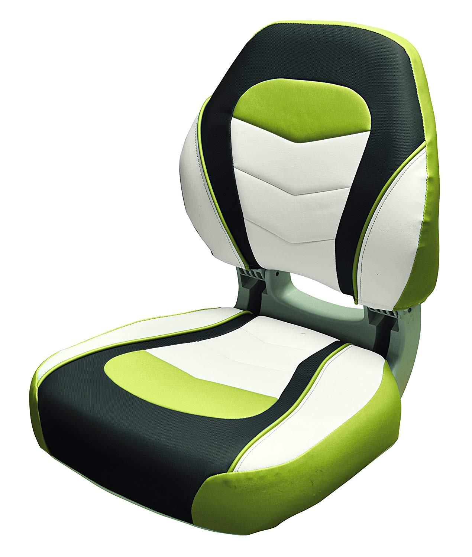 amazon com wise sport folding boat seat acadia green kixx charcoal sky grey sports outdoors