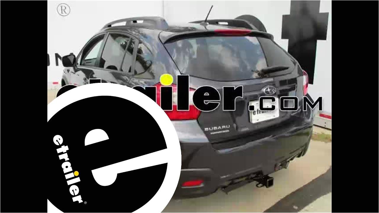 Tow Hitch Bike Rack Subaru Crosstrek Install Trailer Hitch 2014 Subaru Xv Crosstrek C13135 Etrailer Com