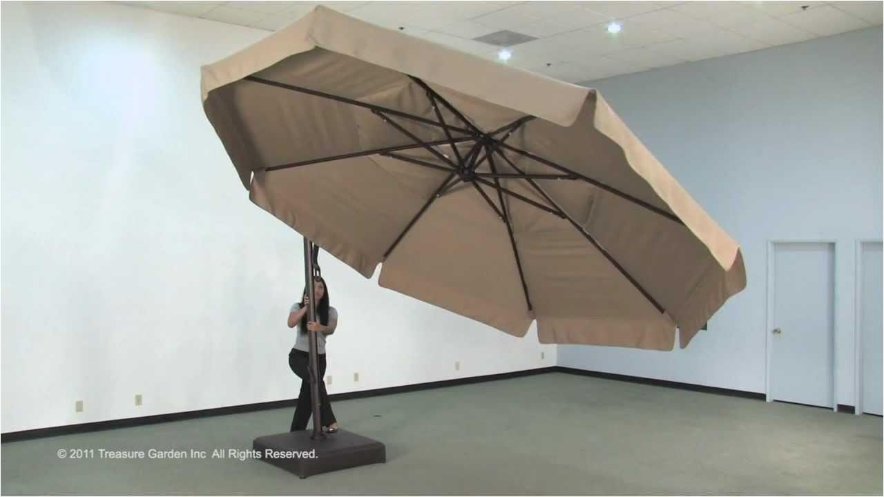 Treasure Garden Cantilever Umbrella 13 Akz13 Cantilever Umbrella Youtube