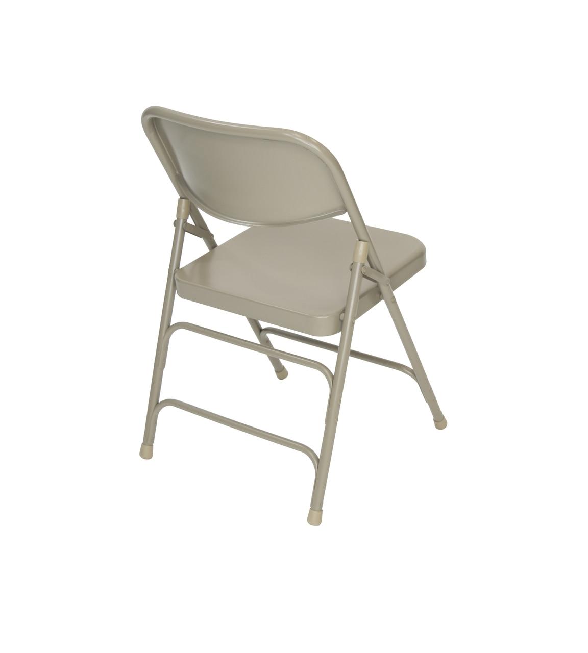 Tri Fold Lawn Chair Classic Series Beige Steel Folding Chair Quad Hinged Triple