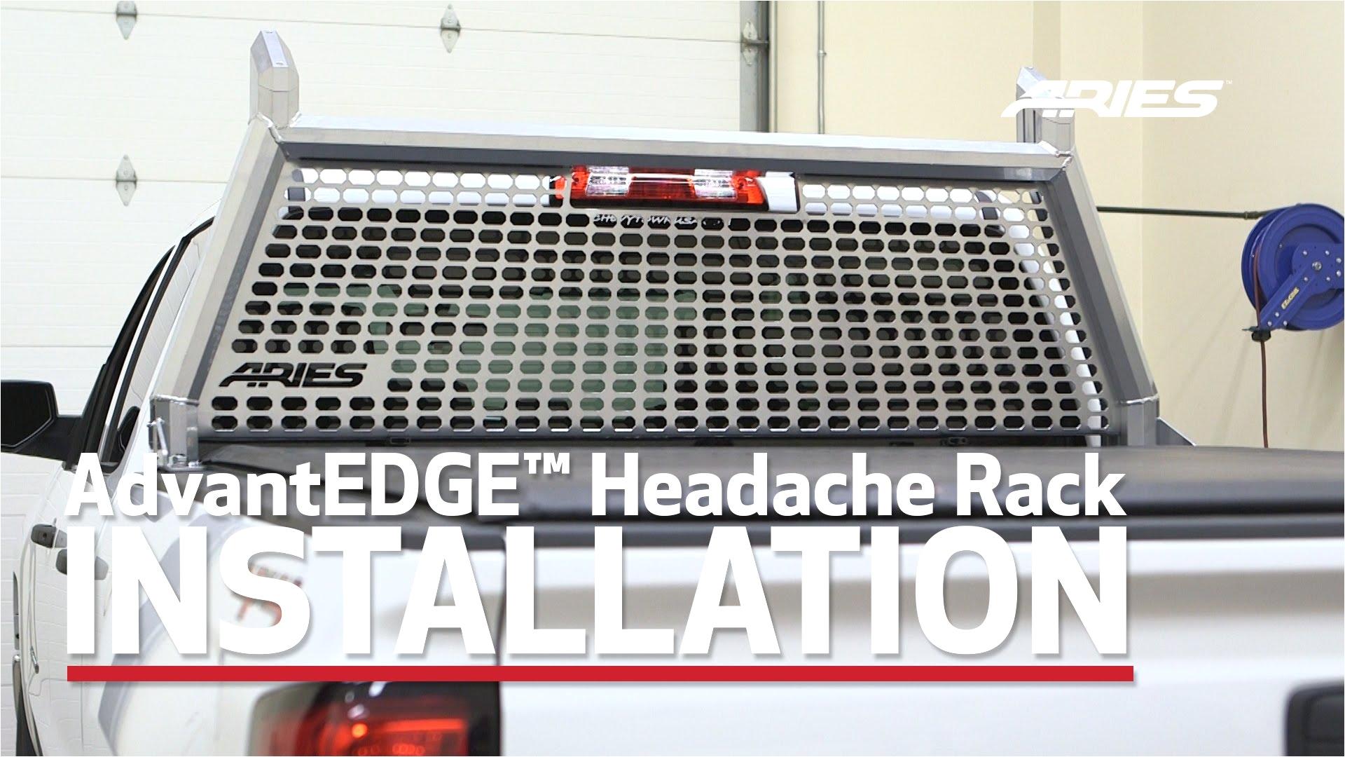 aries advantedgea install headache rack 1110204 on chevy silverado 1500 youtube