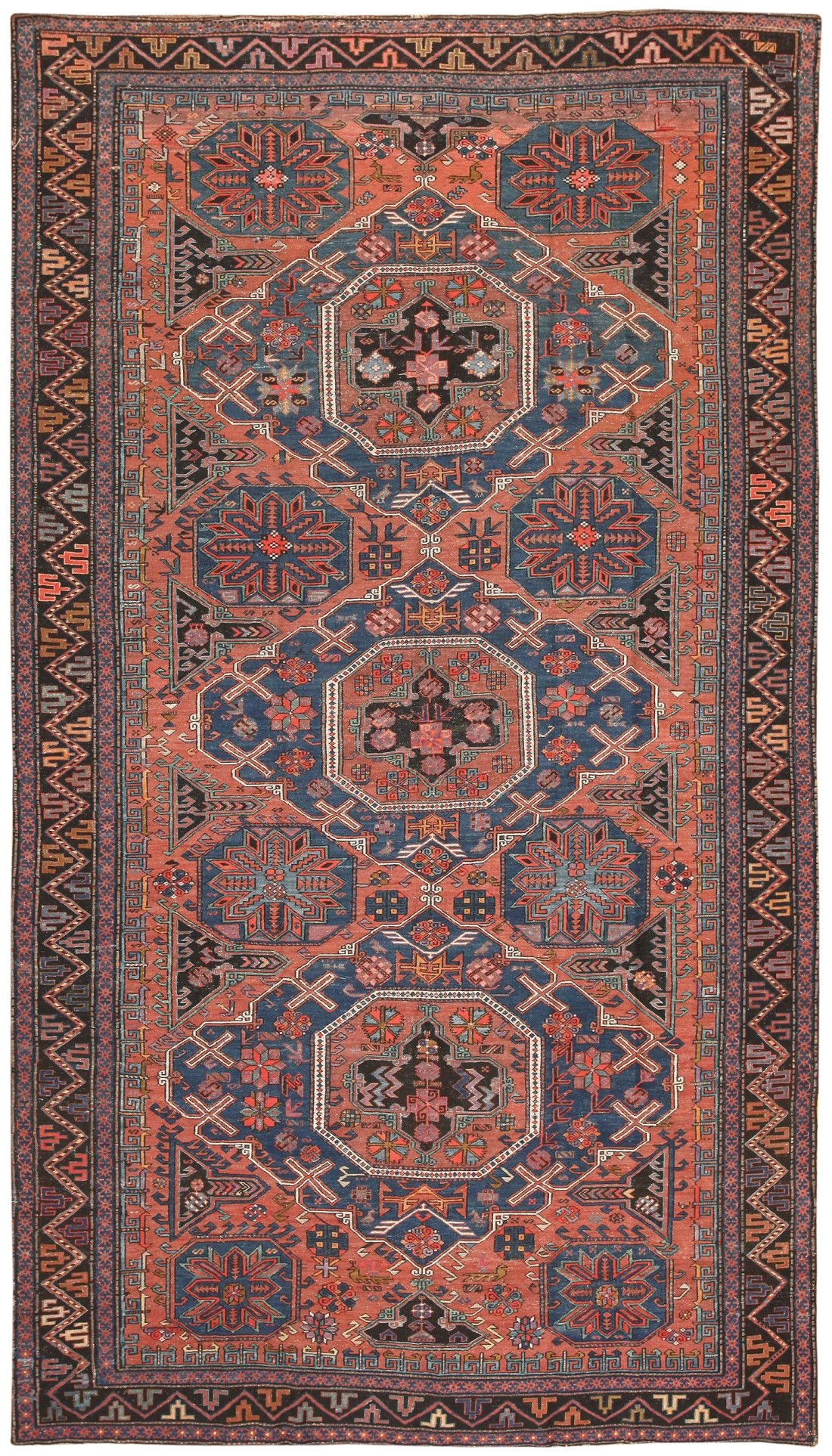 antique caucasian soumak rug 50029