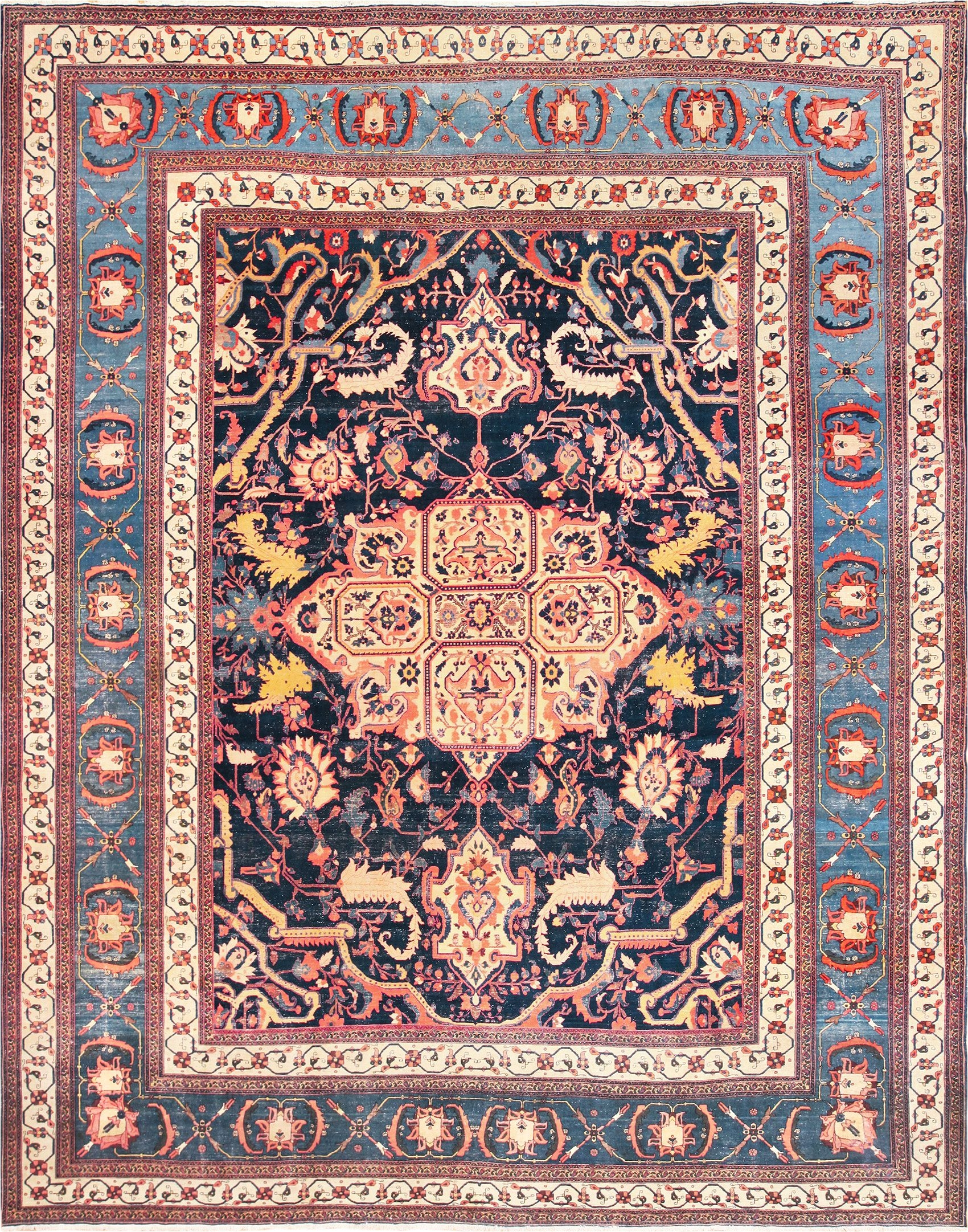 fine antique persian sarouk farahan rug 49107 nazmiyal