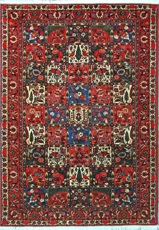 buy bakhtiari persian rug 6 10 x 9 10 authentic bakhtiari handmade rug