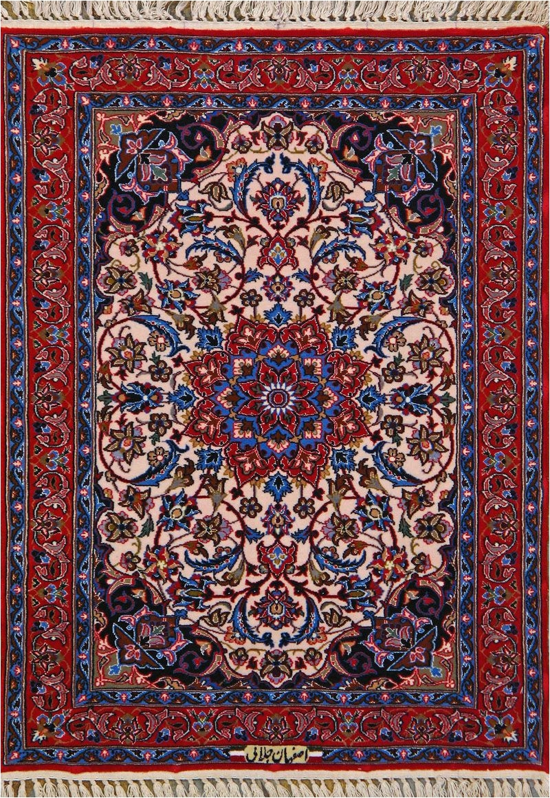 buy esfahan persian rug 2 4 x 3 2 authentic esfahan