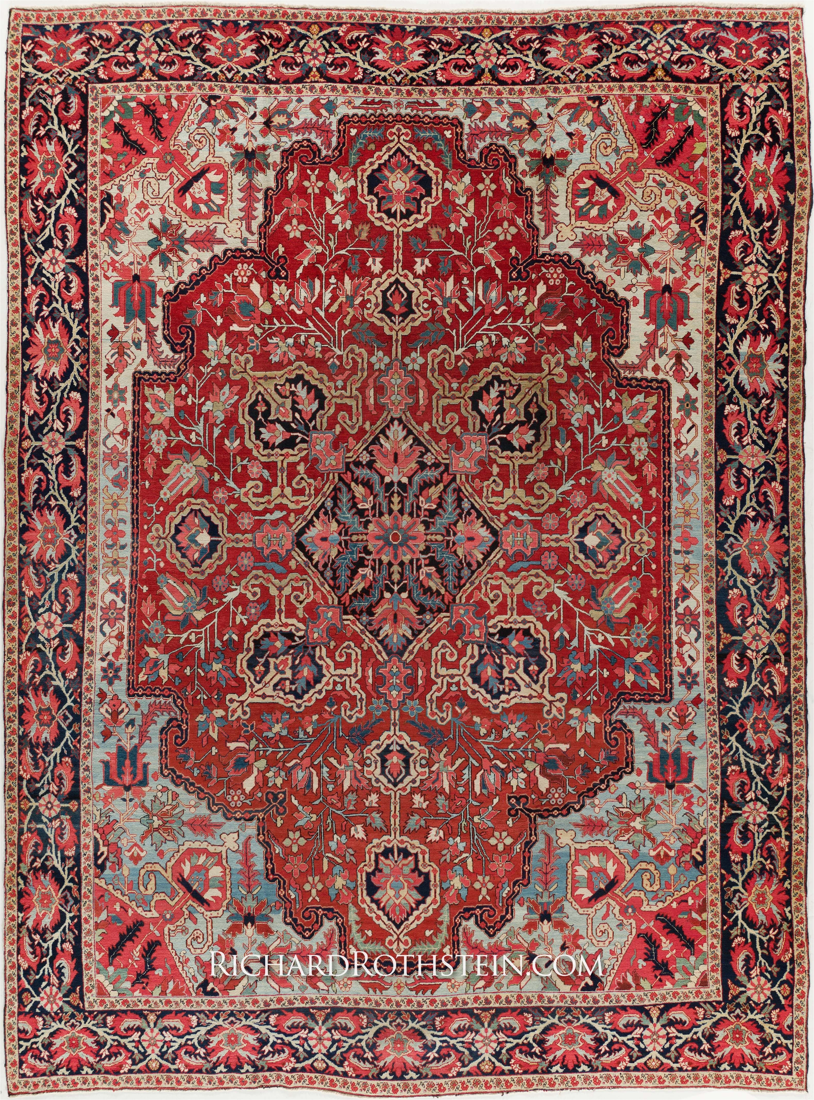 antique heriz serapi rug