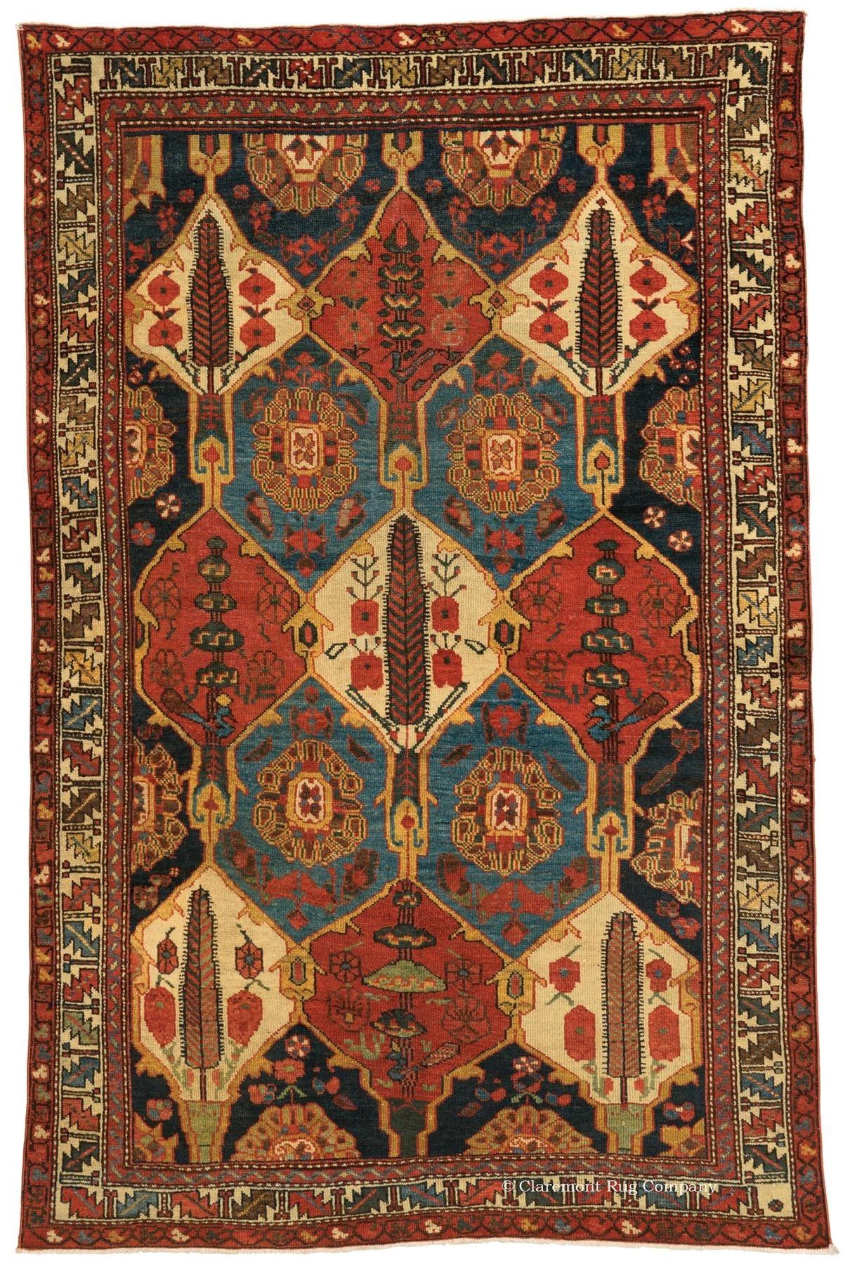 bakhtiari garden compartment rug central persian