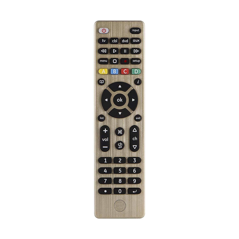 amazon com ge 33710 4 device universal remote control designer series brushed bronze champagne electronics