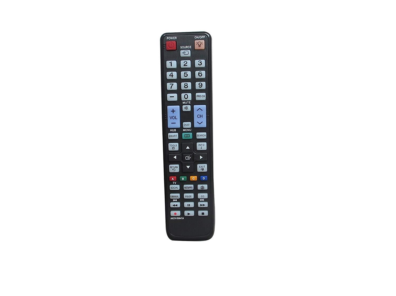 amazon com universal replacement remote control fit for samsung un32eh4003f un32eh4003fxza un60eh6003fxzahh01 plasma lcd led hdtv tv home audio theater